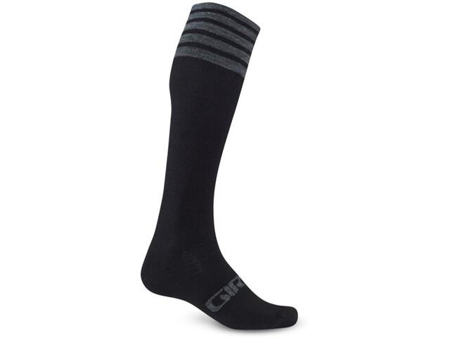 Giro Hightower Chaussettes Laine mérinos, black/gray stripe